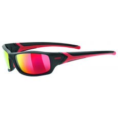 Uvex Sportstyle 211 Polarized Black Mat Red-Polavison Mirror Red S3