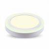 V-tac 12W+3W Felületre szerelhető kör LED Panel 3000K - 4893