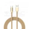 V-tac 1M C Típusú USB kábel arany rubin széria - 8499