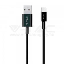 V-tac 1M C Típusú USB kábel fekete gyöngy széria - 8483 mobiltelefon kellék