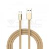 V-tac 1M Micro USB kábel arany rubin széria - 8495