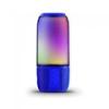 V-tac Bluetooth hangszóró, RGB, akkus USB asztali lámpa (2x3W) - kék
