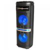V-tac Karaoke görgős hangfal mikrofonnal (120 Watt) akkumulátor, RGB világítás