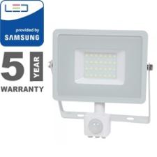 V-tac Mozgásérzékelős PRO-W LED reflektor (50W/100°) hideg fehér világítás