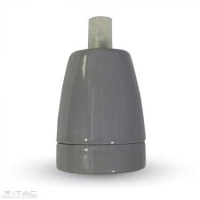 V-tac Porcelán E27 foglalat szürke - 3800 világítás