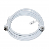 Vakoss Coaxial cable TV (antenna) M/F 2m TC-A726W white