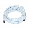 Vakoss Coaxial cable TV (antenna) M/F; ferrite; 5m TC-A745W white