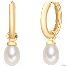 ValeroPearls ValeroGyöngys fülbevaló Sterling ezüst gelbAranyozott Süßwasser-ZuchtGyöngyn Fehér fülbevaló