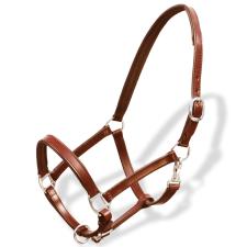 Valódi bőr állítható stabil kötőfék Cob barna lovaglás