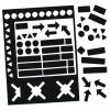 Válogatott mágneses szimbólumok, fekete, 20 mm