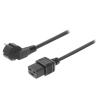 Valueline 220V-os hálózati tápkábel Schuko IEC-320-C19 2,0 méter VLEP10300B20