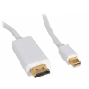 Valueline 2m Mini DisplayPort - HDMI MM kábel, fehér