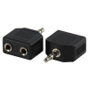 Valueline Adapter JACK - 2xJACK (Jack 3.5mm apa - 2xJack 3.5mm anya)