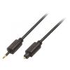 Valueline Digitális Audio Kábel Toslink Dugó - 3.5 mm-es Optikai Csatlakozó 1.00 m Fekete Valueline vlap25100b10