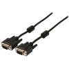 Valueline VGA-kábel: VGA apa – VGA apa, 2,00 m, fekete