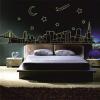 Város éjszaka foszforeszkáló falmatrica
