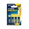 Varta Energy Alkaline AAA mikró elem, 4 db