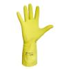 Védőkesztyű, latex, 7-es méret, sárga