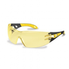 """. Védőszeműveg, sárga lencse, UVEX, """"Pheos"""" sárga-fekete szár"""