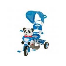 Vegatoys Pandás fedeles tricikli, kék lábbal hajtható járgány