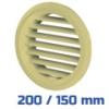 VENTS szellőzőrács, bútorrács bézs rovarhálós (200/150 mm)