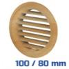 VENTS szellőzőrács, bútorrács bükk rovarhálós (100/80 mm)