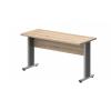 Vénusz irodabútor AVA fémlábas íróasztalok EK-80/62-AVA Egy oldalon kerekített íróasztal AVA fémlábbal 80X 62 cm-es méretben