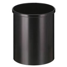 VEPA BINS Nyitott tetejű szemetes, fém, 15 l, VEPA BINS, fekete szemetes