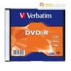 Verbatim DVD-R 4,7 GB, 16x, vékony tokban (Verbatim) AZO