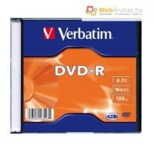 Verbatim DVD-R 4,7 GB, 16x, vékony tokban (Verbatim) AZO írható és újraírható média