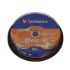 Verbatim DVD-R 4.7 GB, VERBATIM, 16x, hengeren H/10