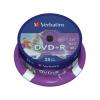 Verbatim DVD+R lemez, nyomtatható, matt, ID, 4,7GB, 16x, hengeren, VERBATIM