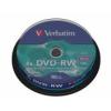Verbatim DVD-RW lemez, újraírható, 4,7GB, 4x, hengeren, VERBATIM [10 db]