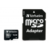 "Verbatim Memóriakártya, microSDHC, 16GB, Class 10 UHS I, adapterrel, VERBATIM ""PRO"""