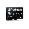 "Verbatim Memóriakártya, microSDXC, 64GB, Class 10 UHS-I, 70/10MB/sec, VERBATIM ""Tablet"""