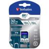 Verbatim Memóriakártya, SDHC, 32GB, Class 10 UHS-I, 90/45MB/sec, VERBATIM PRO (MVS32GP)