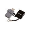 Verbatim Pendrive, 32GB, USB 2.0+micro USB adapter, táblagéphez, VERBATIM DUAL
