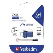 """Verbatim Pendrive, 64GB, USB 3.0+USB-C adapter, VERBATIM, """"DUAL"""" pendrive"""