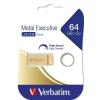 """Verbatim Pendrive, 64GB, USB 3.0, VERBATIM """"Executive Metal"""" arany"""