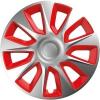 """Versaco 14"""" STRATOS Dísztárcsa, Ezüst/Piros, 4 db"""