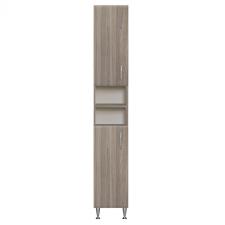 Vertex Bianca Plus 30 magas szekrény 2 ajtóval, nyitott, rauna szil színben, univerzális bútor