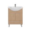 Vertex Bianca Plus 65 alsó szekrény mosdóval, aida dió színben
