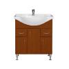 Vertex Bianca Plus 75 alsó szekrény mosdóval, aida dió színben