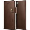 VERUS VRS Design (VERUS) iPhone 7 Native Diary oldalra nyíló tok, sötétbarna