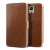 VERUS VRS Design (VERUS) Samsung Galaxy Note 4 Dandy Klop Diary mágneses oldalra nyíló bőr tok, barna