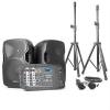 Vexus PSS302, hordozható PA audio rendszer, max. 300 W, bluetooth, USB, SD, MP3, 2 x állvány, 1 x mikrofon
