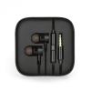 Vezetékes sztereó fülhallgató, 3.5 mm, felvevőgombos, dobozos, fekete