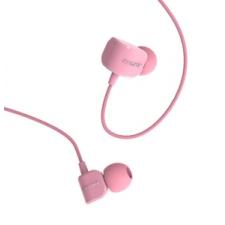 Vezetékes sztereó fülhallgató, 3.5 mm, felvevőgombos, Remax Candy, RM-502, rózsaszín headset