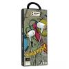 Vezetékes sztereó fülhallgató, 3.5 mm, P6, fehér/arany