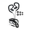 Vezetékes sztereó headset, HF SP80, mikrofonos, fekete